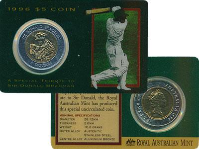 Изображение Монеты Австралия 5 долларов 1996 Биметалл UNC
