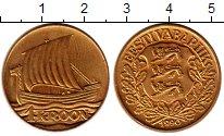 Изображение Монеты Европа Эстония 1 крона 1990 Латунь UNC-