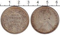 Изображение Монеты Азия Индия 1 рупия 1889 Серебро XF
