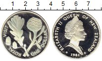 Изображение Монеты Австралия и Океания Новая Зеландия 1 доллар 1981 Серебро Proof-