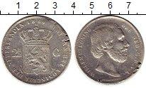 Изображение Монеты Нидерланды 2 1/2 гульдена 1869 Серебро VF