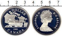 Изображение Монеты Канада 1 доллар 1981 Серебро Proof