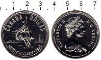 Изображение Монеты Канада 1 доллар 1975 Серебро UNC Елизавета II.  100 -