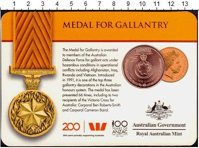 Изображение Монеты Австралия 25 центов 2017 Медь UNC Награды,Ордена и Мед
