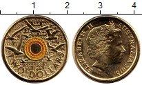 Изображение Мелочь Австралия 2 доллара 2015 Латунь UNC Цветная  эмаль.  Ели