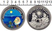 Изображение Монеты Палау 20 долларов 1994 Серебро Proof Независимость, ракуш