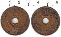 Изображение Монеты Восточная Африка 10 центов 1937 Бронза XF Георг VI (KN)