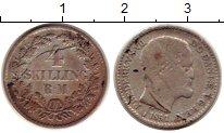 Изображение Монеты Дания 4 скиллинга 1854 Серебро VF