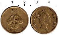 Изображение Монеты Австралия и Океания Фиджи 1 доллар 1995 Латунь XF