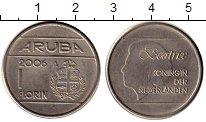 Изображение Монеты Нидерланды Аруба 1 флорин 2006 Медно-никель XF