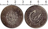Изображение Монеты Южная Америка Уругвай 20 песо 1984 Медно-никель UNC-