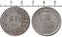 Изображение Монеты Швейцария 2 франка 1911 Серебро XF