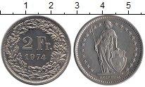 Изображение Монеты Швейцария 2 франка 1974 Медно-никель UNC-