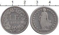 Изображение Монеты Европа Швейцария 1 франк 1894 Серебро XF