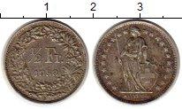 Изображение Монеты Европа Швейцария 1/2 франка 1958 Серебро XF