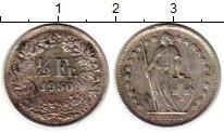 Изображение Монеты Европа Швейцария 1/2 франка 1950 Серебро XF