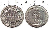 Изображение Монеты Европа Швейцария 2 франка 1961 Серебро XF