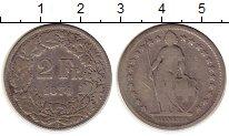Изображение Монеты Европа Швейцария 2 франка 1874 Серебро VF