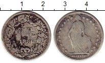 Изображение Монеты Швейцария 1 франк 1886 Серебро VF
