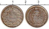 Изображение Монеты Швейцария 1/2 франка 1894 Серебро VF