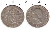 Изображение Монеты Испания 50 сентим 1889 Серебро VF