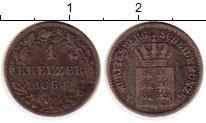 Изображение Монеты Германия Вюртемберг 1 крейцер 1864 Серебро VF