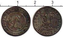 Изображение Монеты Женева 1 соль 1833 Серебро VF