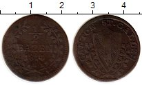 Изображение Монеты Швейцария Сен-Галлен 1/2 батзена 1814 Серебро VF