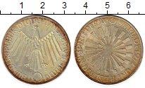 Изображение Монеты ФРГ 10 марок 1972 Серебро XF