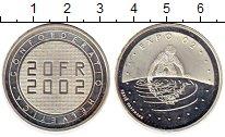 Изображение Монеты Швейцария 20 франков 2002 Серебро Proof-