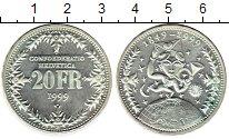 Изображение Монеты Европа Швейцария 20 франков 1999 Серебро UNC