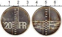 Изображение Монеты Швейцария 20 франков 1992 Серебро UNC-