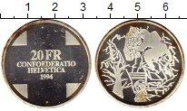 Изображение Монеты Швейцария 20 франков 1994 Серебро UNC- Мост дьявола (Чертов