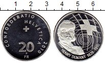 Изображение Монеты Швейцария 20 франков 2010 Серебро UNC-