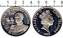 Изображение Монеты Острова Кука 50 долларов 1993 Серебро Proof