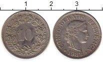 Изображение Монеты Швейцария 10 рапп 1982 Медно-никель XF