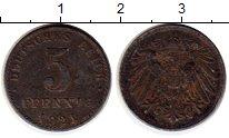Изображение Монеты Веймарская республика 5 пфеннигов 1921 Железо XF-