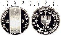Изображение Монеты Европа Андорра 10 динерс 1995 Серебро Proof