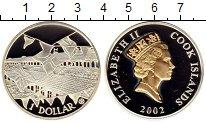 Изображение Монеты Острова Кука 1 доллар 2002 Серебро Proof- 50 лет правления Ели