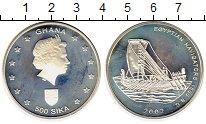 Изображение Монеты Гана 500 сика 2002 Серебро Proof-