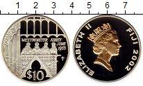 Изображение Монеты Фиджи 10 долларов 2002 Серебро Proof Вестминстерское абба