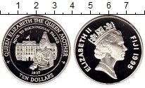 Изображение Монеты Фиджи 10 долларов 1995 Серебро Proof Букингемский дворец,