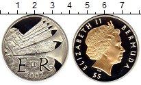 Изображение Монеты Великобритания Бермудские острова 5 долларов 2002 Серебро Proof-