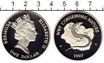 Изображение Монеты Великобритания Бермудские острова 1 доллар 1997 Серебро Proof