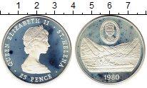 Изображение Монеты Остров Святой Елены 25 пенсов 1980 Серебро Proof-