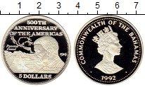 Изображение Монеты Багамские острова 5 долларов 1992 Серебро Proof-