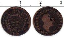 Изображение Монеты Вюртемберг 1 крейцер 1829 Серебро VF