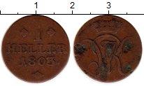 Изображение Монеты Германия Гессен-Кассель 1 геллер 1803 Медь VF