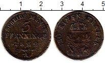 Изображение Монеты Германия Пруссия 3 пфеннига 1862 Медь VF