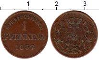 Изображение Монеты Бавария 1 пфенниг 1858 Медь XF
